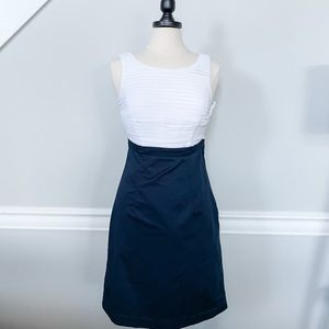 H&M Navy and White Dress